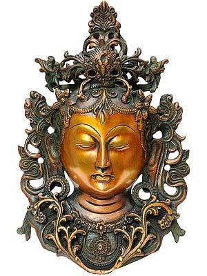 Meditating Tara Mask Wall-hanging (Tibetan Buddhist Deity)