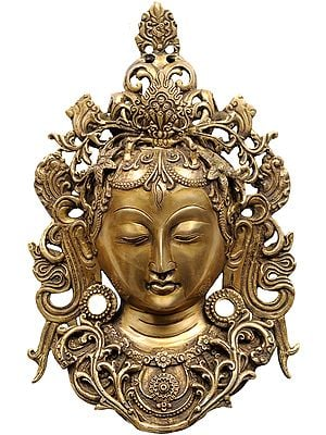 Meditating Tara Mask Wall-hanging (Tibetan Buddhist Deity)