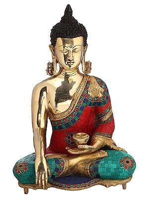 Gautam Buddha in Bhumisparsha Mudra - Tibetan Buddhist Deity