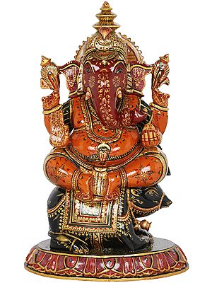 Ganesha Riding On His Vahana