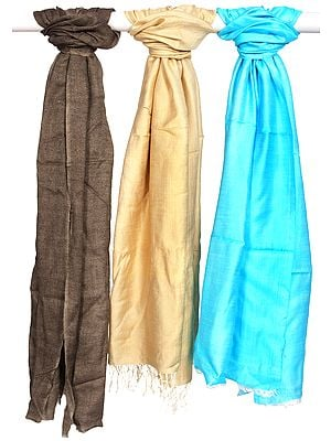 Lot of Three Plain Double-Sided Stoles