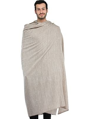 Plain Men's Dushala with Self Weave