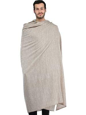 Plain Men's Dushala with Self Weave