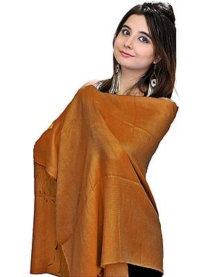 Plain Water-Pashmina Reversible Stole from Nepal