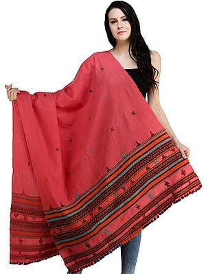 Shawl from Kutch with Multicolor Thread Weave