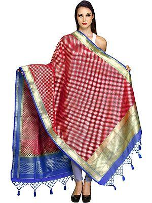 Brocaded Banarasi Dupatta with Zari-Woven Bootis All-Over