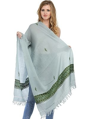 Ari Hand-Embroidered Stole from Kashmir
