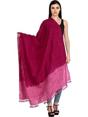 Double-Shaded Tie-Dye Shawl from Kutch