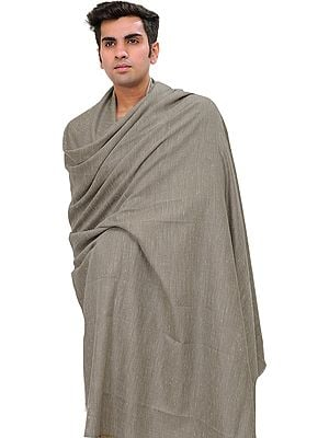 Moonrock-Gray Plain Men's Dushala from Kullu