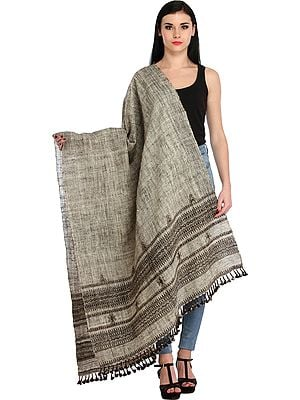 Handloom Shawl from Kutch with Woven Border