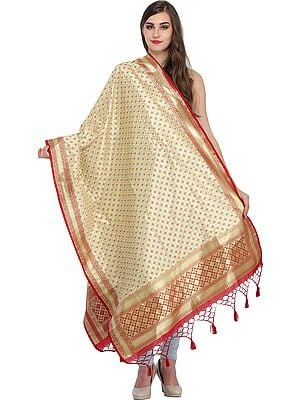 Brocaded Banarasi Dupatta with Woven Bootis