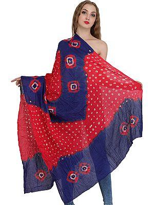Bandhani Tie-Dye Dupatta from Gujarat