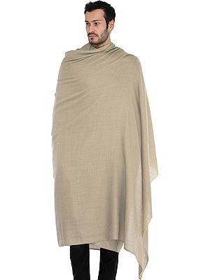 Plain Men's Pure Pashmina Dushala (Lohi) from Amritsar