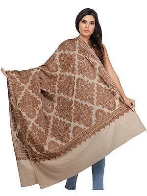 Shawl from Amritsar with Ari Embroidered Large Bootis