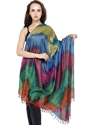 Hand-Woven Banarasi Dupatta with Tanchoi Weave