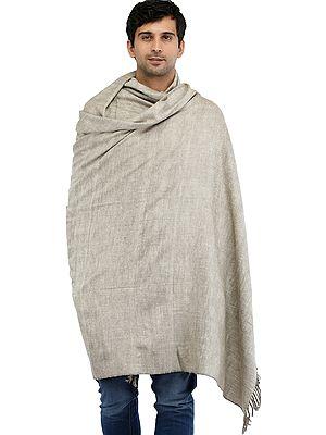 Cobblestone Plain Men's Dushala (Chaddar) from Kullu