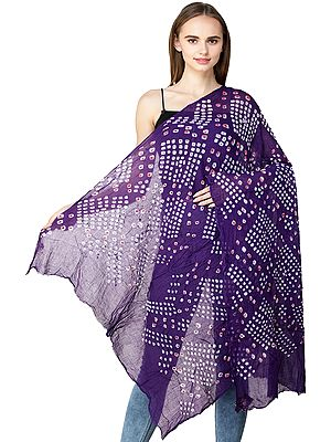 Dupatta from Jodhpur with Tie-dye Print