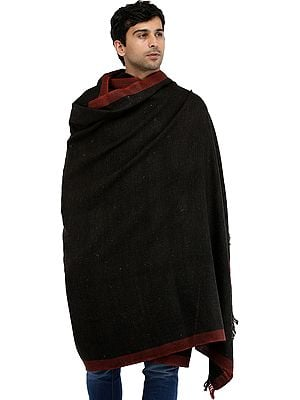 Kullu Palla Men's Shawl with Kinnauri Woven Border