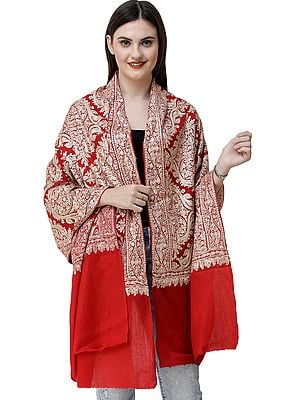 Stole From Amritsar with Woven All-Over Ari Embroidery
