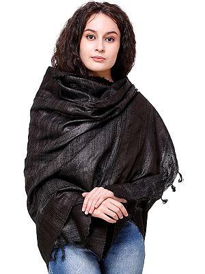 Plain Kosa Handloom Shawl from Jharkhand