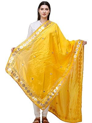 Dupatta from Amritsar Embellished with Patch Border