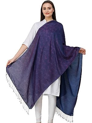 Gothic-Grape Stole from Nepal with Batik Print