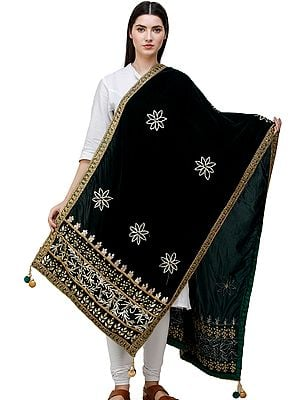 Dupatta from Amritsar  Embellished with Gota Patches on Border and Mirrors