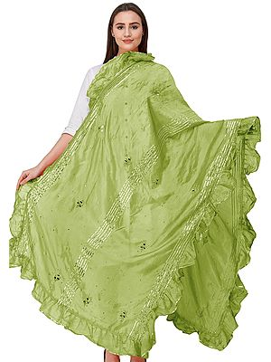 Dupatta from Amritsar with Gota Patches and Frill Border