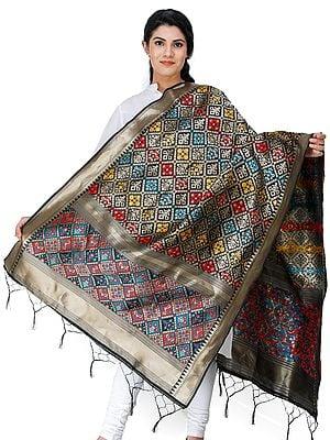 Brocade Dupatta from Gujarat with Brocade Weave