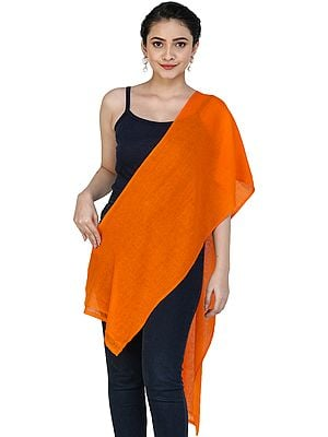 Plain Pure Cashmere Woven Scarf from Nepal