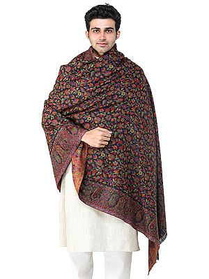 Men's Jamawar Shawl from Amritsar with Kani Weave