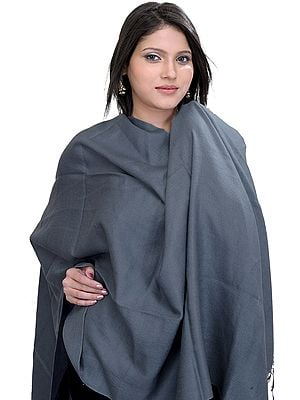Plain Silk-Pashmina Stole from Nepal