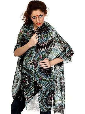 Multi-Color Stole with Solar Print