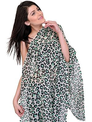 Off-White Leopard-Skin Printed Stole
