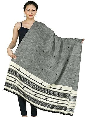 Shawl from Kutch with Embroidered Mirrors