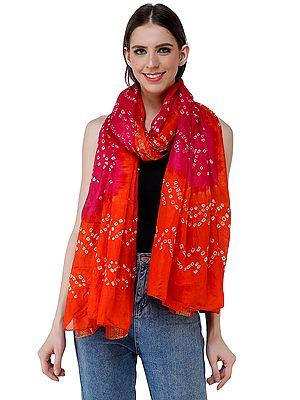Tie-Dye Bandhani Dupatta From Gujarat
