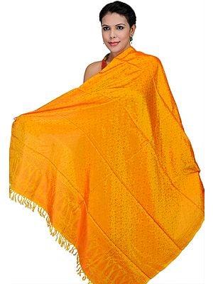 Banarasi Handloom Dupatta with Tanchoi Weave All-Over