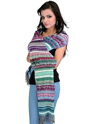 Stretchable Woven Scarf