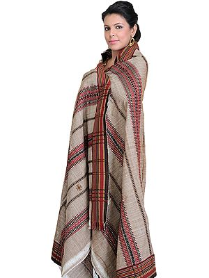 Kutch Shawl with All-Over Weave