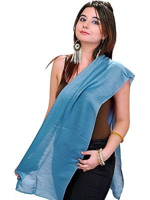 Plain Reversible Water-Pashmina Scarf from Nepal