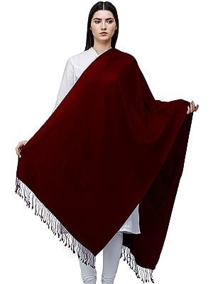 Plain Pashmina Shawl from Nepal