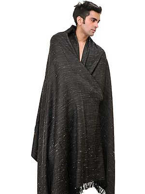 Black Plain Men's Dushala from Kullu