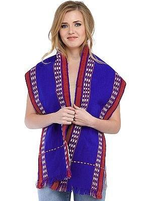Leirum Scarf from Manipur with Thread Weave on Border