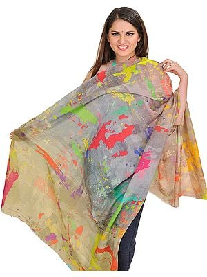 Multicolor Digital-Printed Shawl