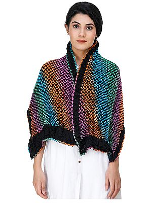 Multicolor Bandhani Tie-Dye Scarf from Gujarat