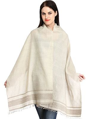 Fog Stole from Kutch with Thread Weave on Border