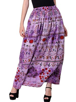 Warli Folk Printed Long Skirt