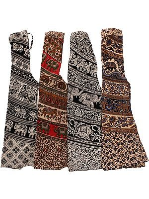 Lot of Four Printed Palazzo Pants from Pilkhuwa
