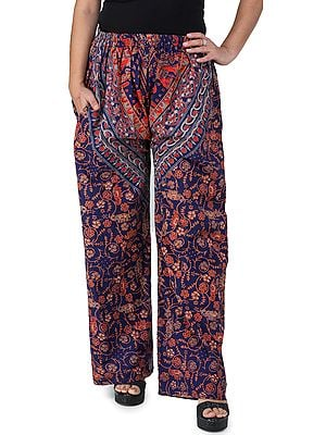 Ocean-Cavern Casual Trousers from Pilkhuwa with Printed Elephants