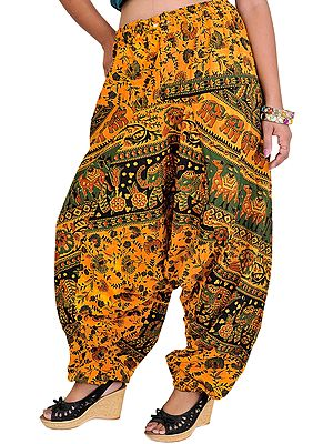 Printed Harem Trousers from Pilkhuwa